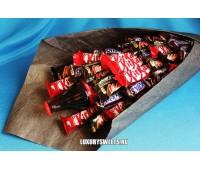Букет из шоколадных батончиков Великий Гудвин