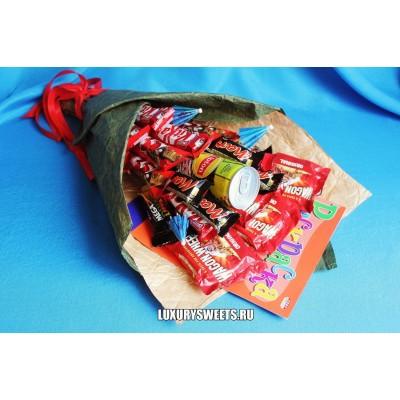 Букет из шоколадных батончиков Ласковый прибой