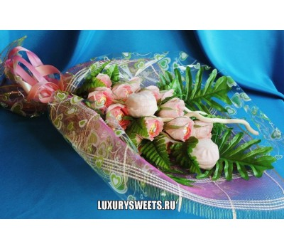Букет из конфет Розовый зефир 2