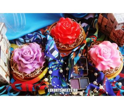 Мыло ручной работыЮжная роза под куполом