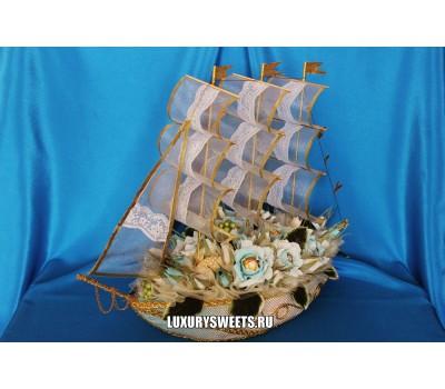 Корабль из конфет Морская жемчужина