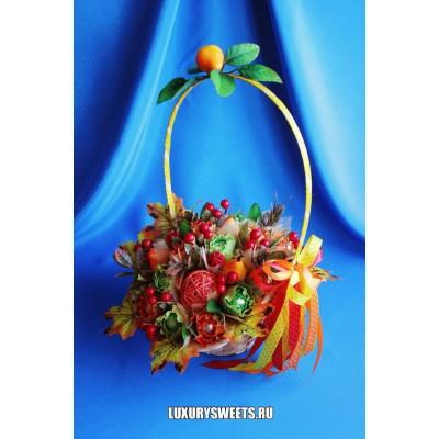 Корзина из конфет Янтарная сказка 2