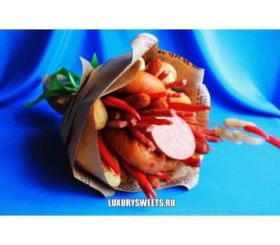 Мужской букет из колбасы Викинг
