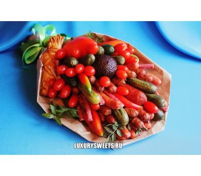 Мужской букет из колбасы Мясной провиант