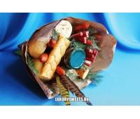 Мужской букет-закуска из колбасы  Удачная охота
