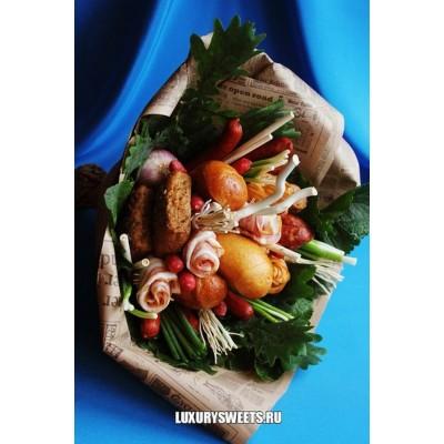 Мужской букет из колбасы Тортуга