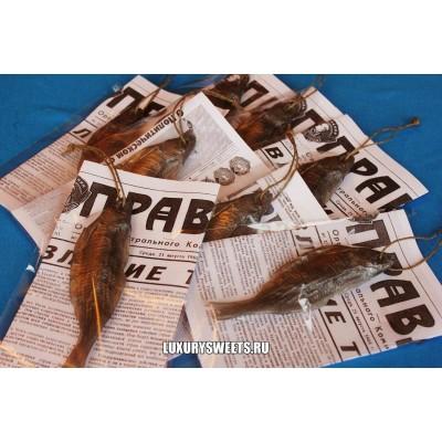 Мыло ручной работы Вобла сушёная в газете