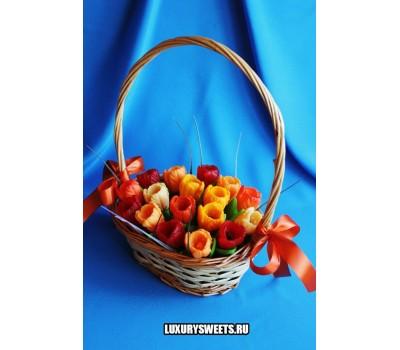 Корзина из мыла ручной работы  Питерские тюльпаны