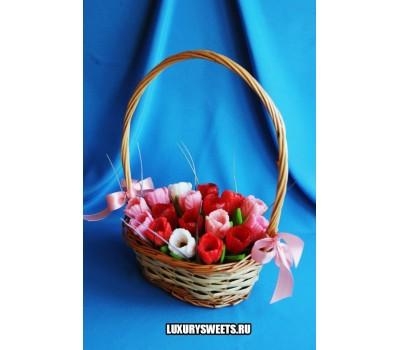 Корзина из мыла ручной работы  Питерские тюльпаны 2