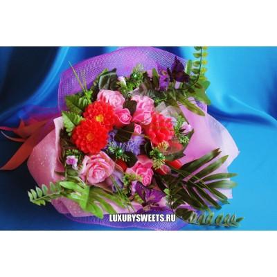 Букет из мыла ручной работы  Сибирская роза 2