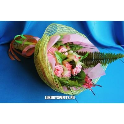 Букет из мыла ручной работы Розовые розы 2