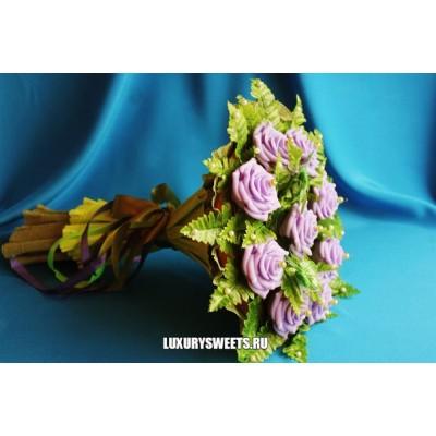 Букет из мыла ручной работы Фиолет