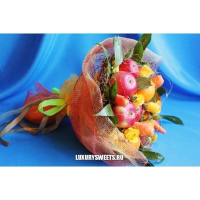 Букет из фруктов и роз  Фантазия