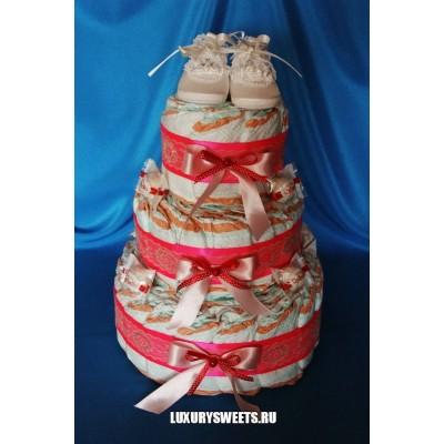 Торт из памперсов Raffaello