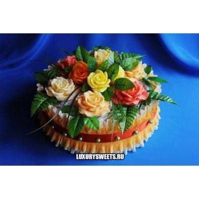 Торт из памперсов Красота