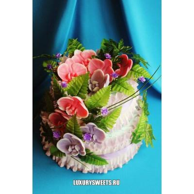 Торт из памперсов Нежная орхидея 2