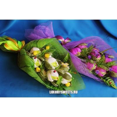 Букет из конфет Сладкие тюльпаны